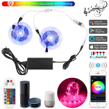 10 Meters Smart 5050 RGB LED Strip Light Strip Set+Bluetooth Mesh APP Controller+Transformer for Amazon Alexa Google Assistant