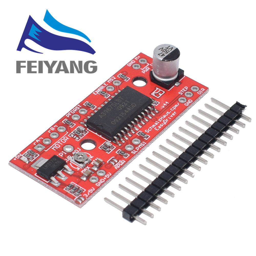 A3967 EasyDriver Stepper Motor Driver  development board 3D Printer A3967 module-in Integrated Circuits from Electronic Components & Supplies