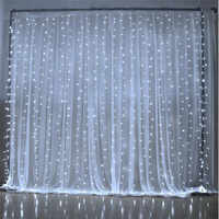 6M x 3M 600 LED maison en plein air vacances noël décoratif mariage noël chaîne fée rideau guirlandes bande fête lumières