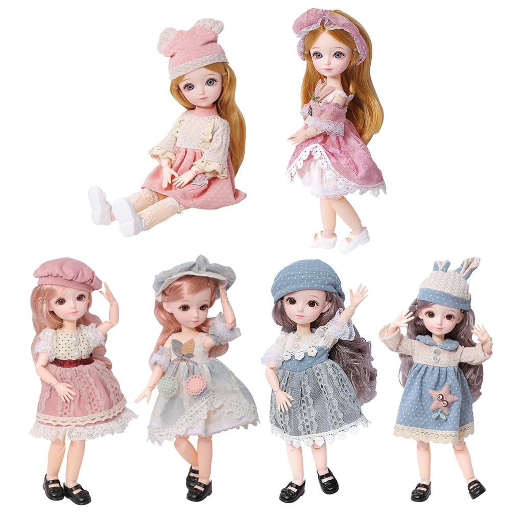 1/6 23 Flexible Ball Gelenke BJD Mädchen Puppe Feine Outfits w/Kleidung Schuhe Nette Dressup Kinder Mädchen Rolle Spielen spielzeug