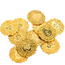 Gold Coins Game Halloween-Prop-Decorations Treasure Pirate Skull Coin-Party-Favor 50pcs