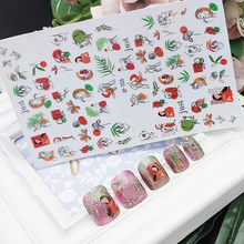 1pc Water Nail Stickers Decal Geometric Abstract Painted Human Face Decals Water Transfer Sliders Nail Supplies Nail Decoration