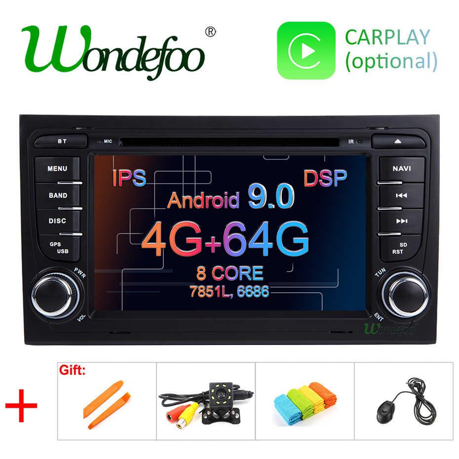 アンドロイド 9.0 DSP 4 グラム 64 グラム GPS ラジオアウディ A4 B6 B7 S4 B7 B6 RS4 B7 シート exeo で 8 コア/4 コア 2 DIN DVD プレーヤー IPS スクリーン無線 LAN 、 BT