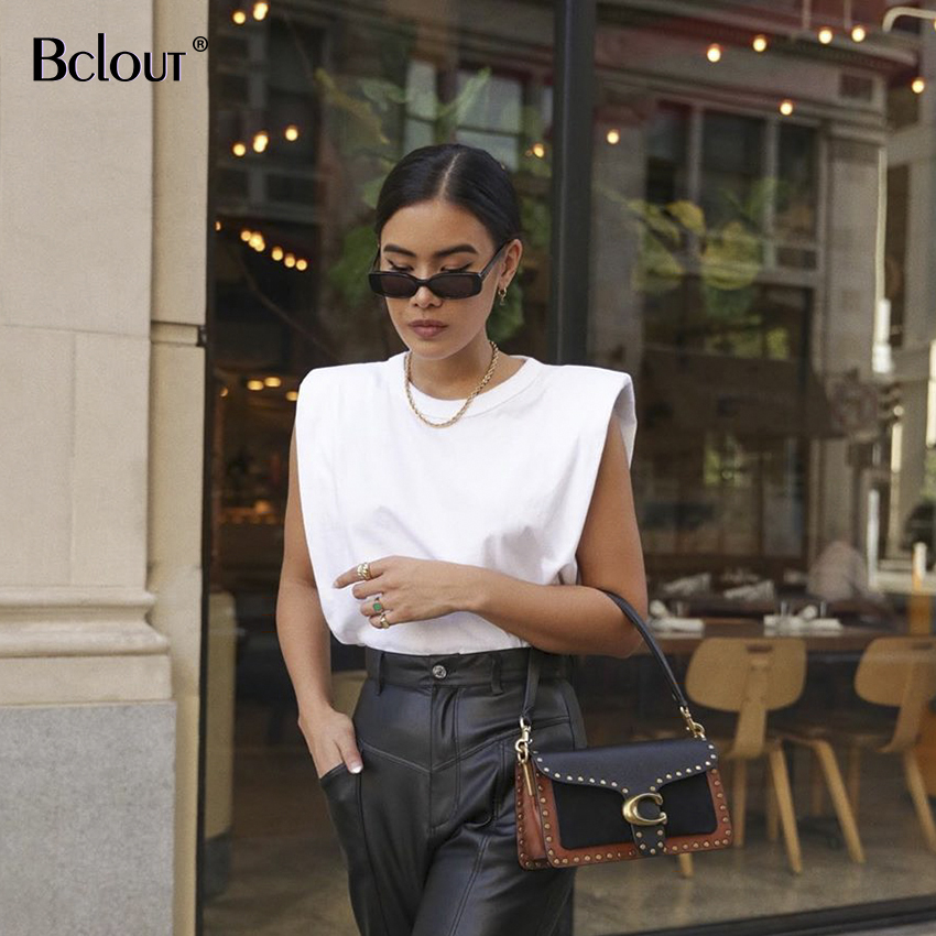 Summer Sleeveless White Loose Top Women O Neck Camis Casual Basic Sport Vest Tops Female Streetwear Fashion Tank Tops 2020