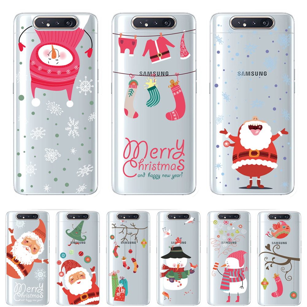Christmas Light oil clear TPU Phone Case For <font><b>Samsung</b></font> Galaxy A10 A30 A40 <font><b>A50</b></font> 70 A80 Cover Fundas Coque Capinhas <font><b>Hoesjes</b></font> Etui image