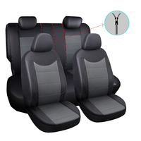 Car Seat Cover 11PCS Pu Leather Full Set Vehicle Seat Supports Auto Interior Accessories Universal Chair Protective Covers