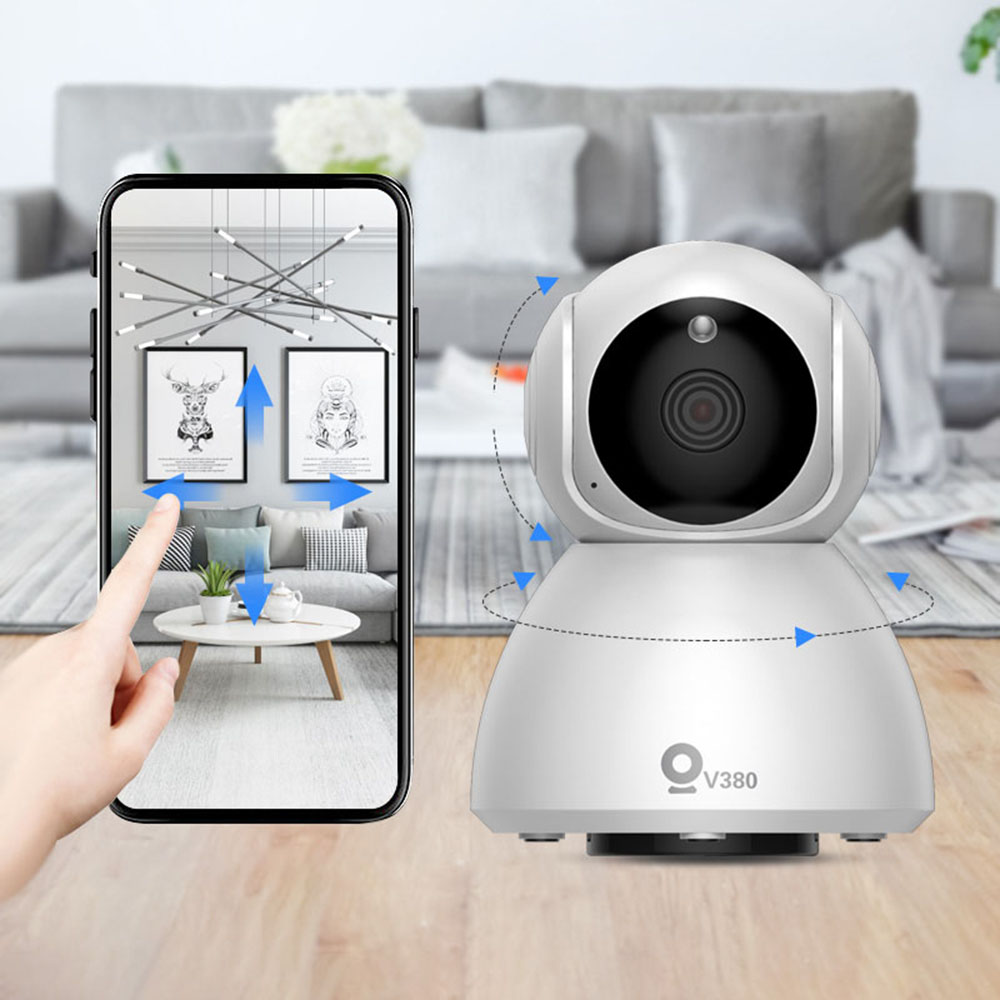 Xiavv Q8 HD 1080P 360° Panoramic IP Infrared Night Vision Detection Camera Baby Sleeping Monitor