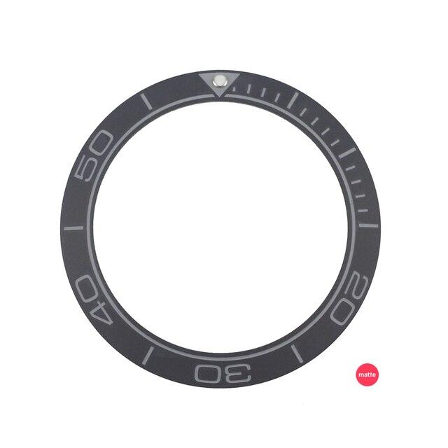 Новинка 41,5 мм матовый черный/синий высококачественный керамический Безель вставка для мужских часов для дайвера заменяемые аксессуары