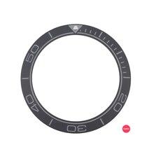 חדש 41.5mm מט שחור/כחול באיכות גבוהה קרמיקה להוסיף לוח גברים של שעון צוללן שעונים להחליף אביזרים