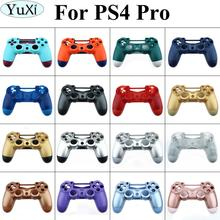 YuXi For PS4 Pro 컨트롤러 케이스 앞면 뒷면 하드 어퍼 하우징 쉘 커버 For Playstation Dualshock 4 Pro V2 JDS 040 JDM 040
