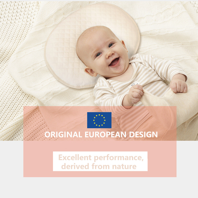 Giggling Baby2019 Kapok Fiber Antibacterial Anti-mite Wet Guide Natural Healthy Baby Styling Pillow