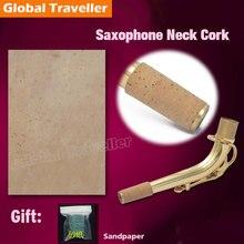 цена на Eb Alto Saxophone neck spout Cork mat neck tube cork Bb Tenor Saxophone Neck Spout Tube Cork Saxophone cork pad Repair Parts