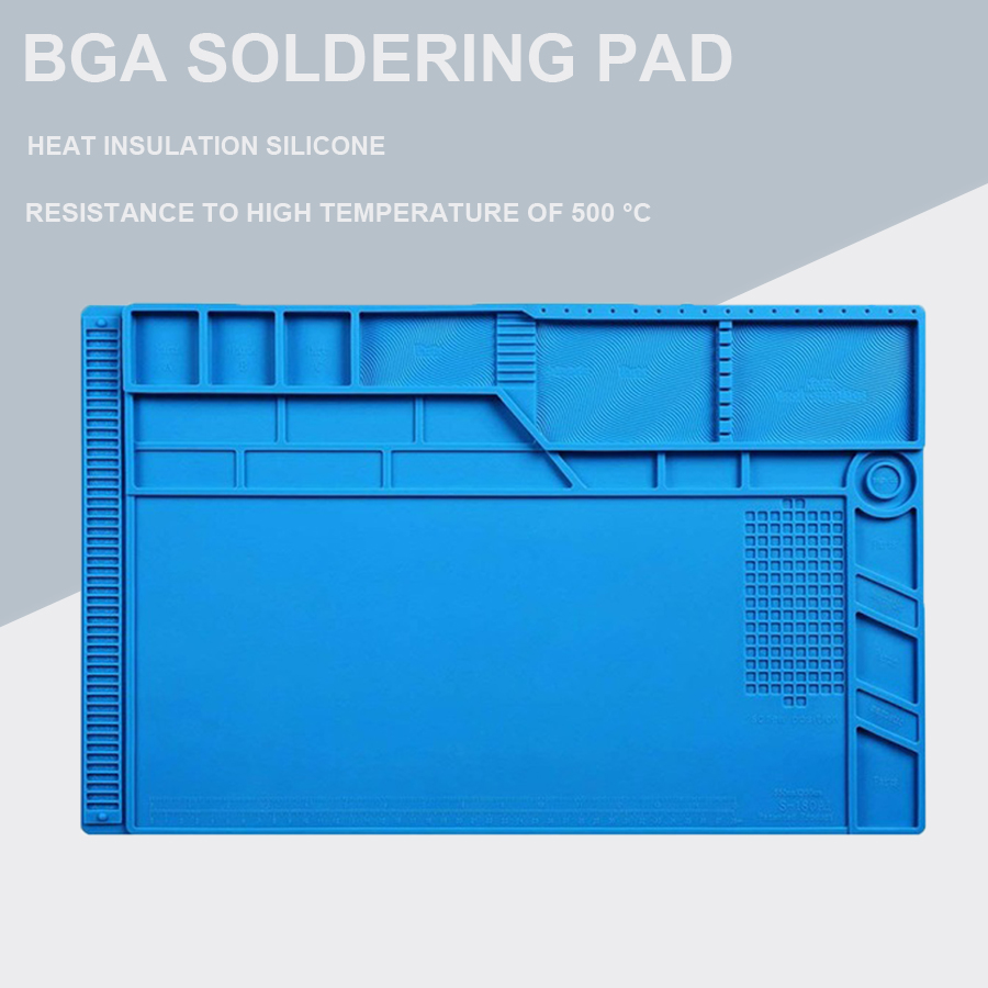 Newest S-180 55*35 CM BGA Heat Insulation Silicone Soldering Pad Repair Maintenance Platform Desk Mat With Magnetic Section