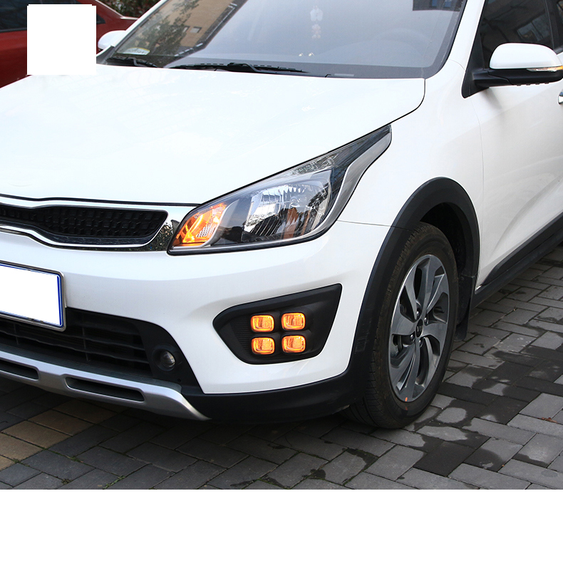 Lsrtw2017 LED Car Turning Light Three Colors Light Bulb for Kia Kx Cross Interior Mouldings Accessories in Interior Mouldings from Automobiles Motorcycles