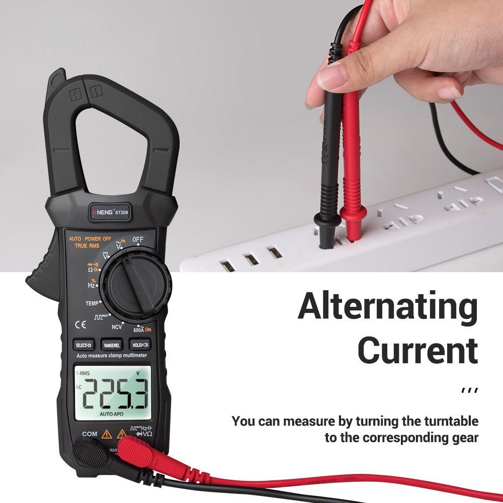 Tools : Voltage Meter Tester ST209 Digital Multimeter Clamp Meter True RMS DC AC Current Clamp Tester Meters Voltmeter Auto Range