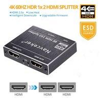 Rozdzielacz HDMI 4K UHD rozdzielacz HDMI 2.0 1x2 rozdzielacz HDMI 2.0 rozdzielacz HDCP 2.2 HDR rozdzielacz HDMI 2.0 4K HDMI2.0 dla Blu ray DVD PS3 PS4 w Kable HDMI od Elektronika użytkowa na