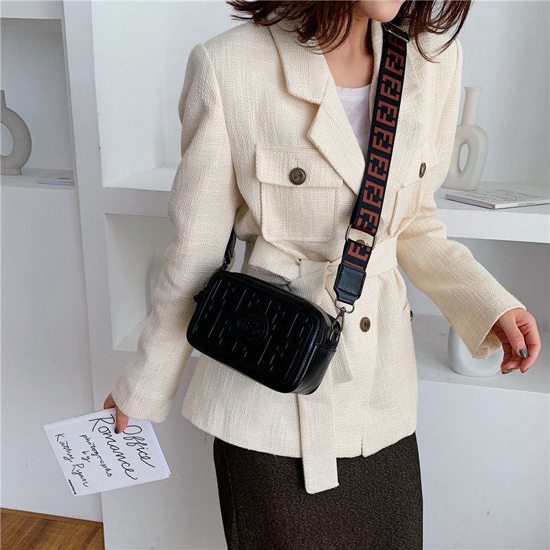 Luxury Vintage Small Square Bags Ladies Solid Color Crossbody Bags Quality Wide Strap Shoulder Messenger Bags Louis Brand CC GG