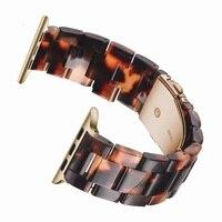 Harz Uhr strap Für Apple Uhr 6 4 3 44mm 40mm 38MM 42MM Transparent Band Armband für iWatch Serie 6 5 3 Ersatz handgelenk