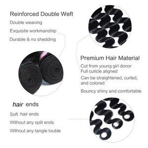Image 5 - Brazilian Hair Weave Bundles Body Wave Bundles 100% Human Hair Extension Remy Hair 28 30 32 34 38 40 8 40 inch 30 inch bundles