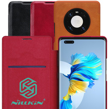 Nillkin צ ין ספר Flip עור מקרה עבור Huawei Mate 40 פרו ארנק Coque Capinha