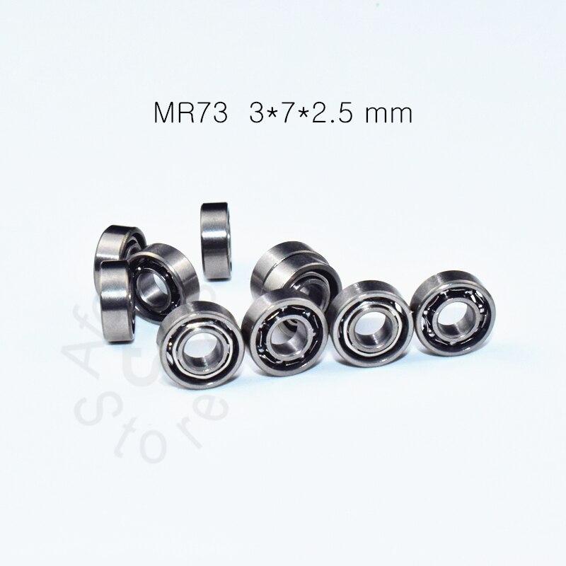 MR73ZZ 3*7*2.5(mm) 10pieces Free Shipping Bearing ABEC-5 Miniature Mini Bearing Fishrod Shaker Chrome Steel Bearings