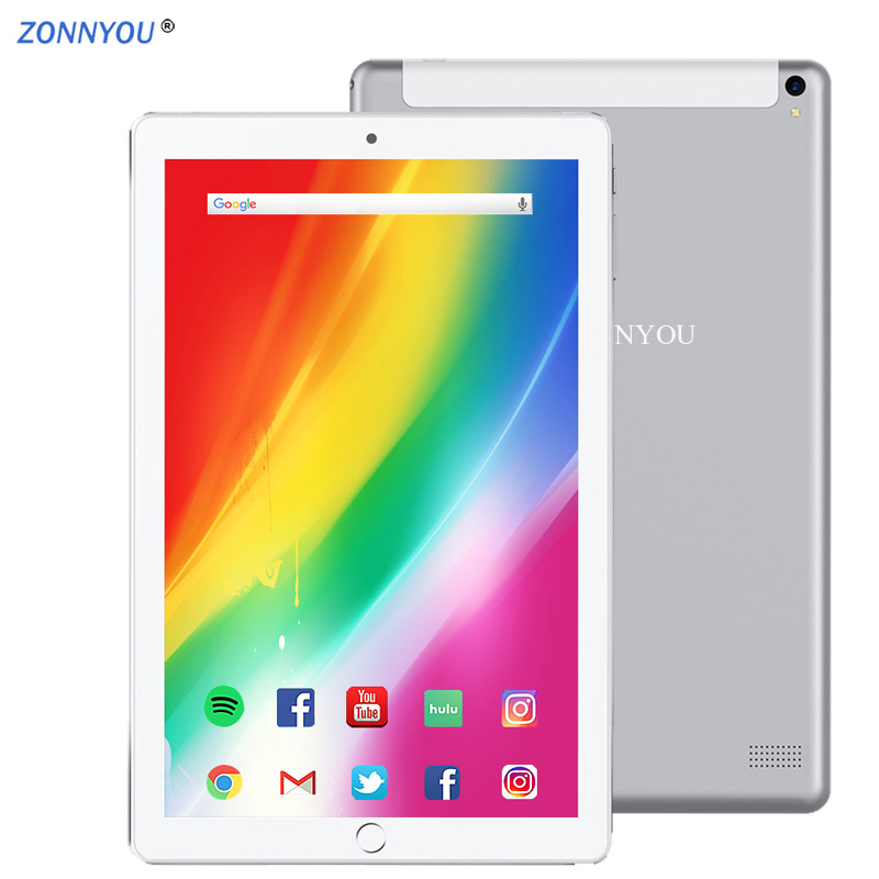 2.5D Steel Scree 10.1 Inch Tablet PC Android 8.1 Octa Core 4G/3G Phone Call 4GB+64GB Dual SIM-kaart Wi-Fi IPS Bluetooth Tablet