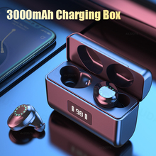 Wireless Headphones with 3000mAh Charging Case Sports Music TWS Bluetooth Earphon Waterproof Touch Control Bluetooth Headsets