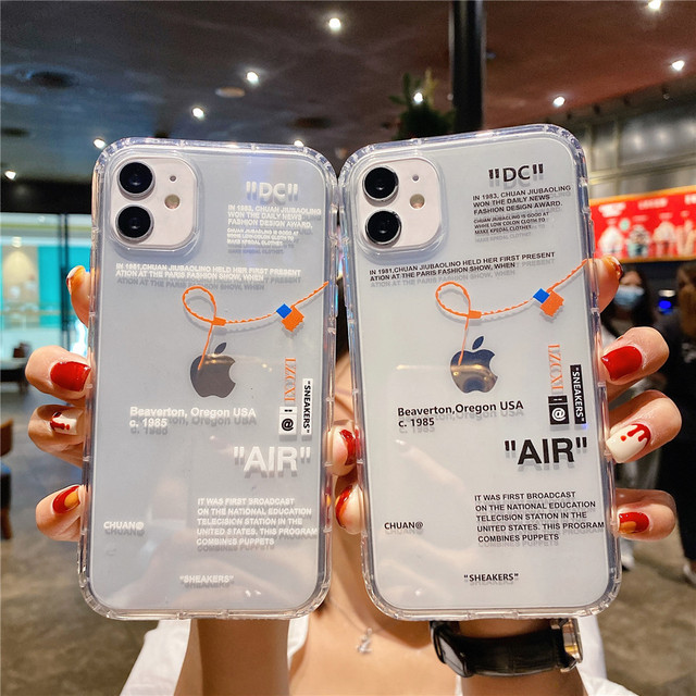Hot Off Sports shoes brand phone case for iphone 12 mini 11 X XS Max XR 7 8 6 6s Plus SNEAKERS ins white label soft TPU Cover 1