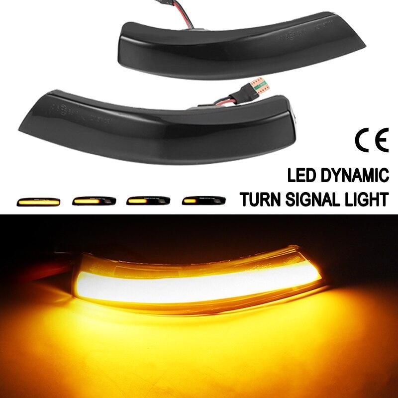 2x Car LED Dynamic Turn Signal Light For Ford Focus 2 3 Mk2 Mk3 Mondeo Mk4 Side Rearview Mirror Indicator Blinker Streamer Lamp