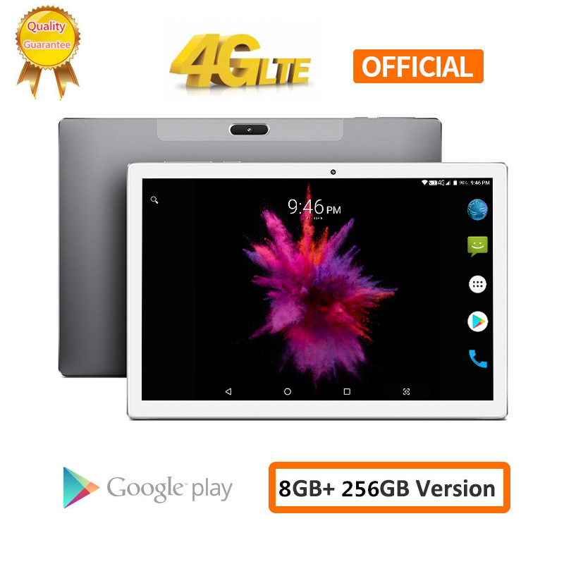8000mAH Android 8.0 2.5D Screen Tablet Pcs 10.1 Inch 4G LTE Phone Tablet PC 10 Core RAM 8GB ROM 256GB Tablets 1920*1200 Pcs