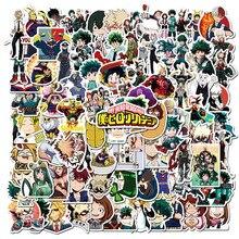 100Pcs My Hero Academia Japan Anime Stickers for Laptop Skateboard Izuku Midoriya Might Boku No Hero Academia Character Decals