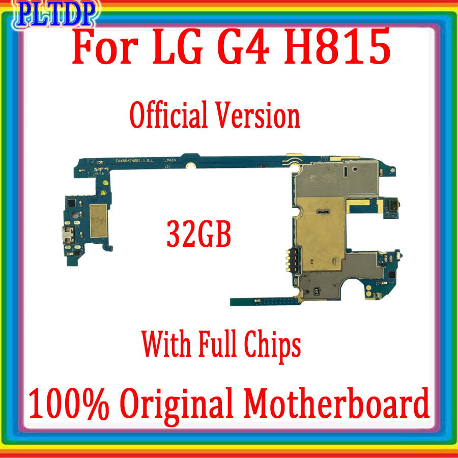 100% Original <font><b>Motherboard</b></font> For <font><b>LG</b></font> G4 <font><b>H815</b></font> Mainboard With Android System Logic Board 32GB With Full chips Good Tested image