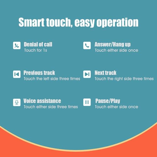 Lenovo XT90 /LP40/ X9/LP2/LP1 TWS True Wireless BT5.0 écouteurs contrôle tactile IPX5 étanche bouchons doreilles avec boîte de charge 300mAh