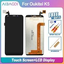 Aibaoqi新オリジナル 5.7 インチのタッチスクリーン 1440 × 720 液晶ディスプレイアセンブリの交換oukitel K5 アンドロイド 7.0