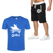 2019 Tide brand Sets Summer Men T Shirts+pants Hot Sale Cotton Comfortable Short Sleeve Tshirt men Casual Set Pant