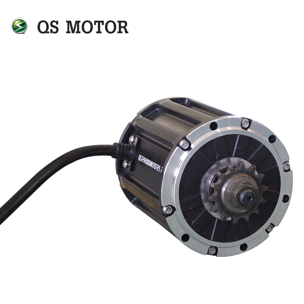 QS Motor Sprocket type 428 New Launched Product 120 2000W 70H mid drive Motor for electric motorcycle