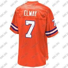 Football-Jersey John Denver American Customized-Stitch Orange Youth Kid Elway Replica