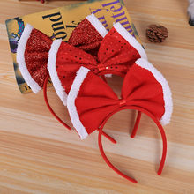 Christmas Headband Santa Xmas Party Decor Double Hair Band Clasp Head Hoop Drop Shipping K30(China)