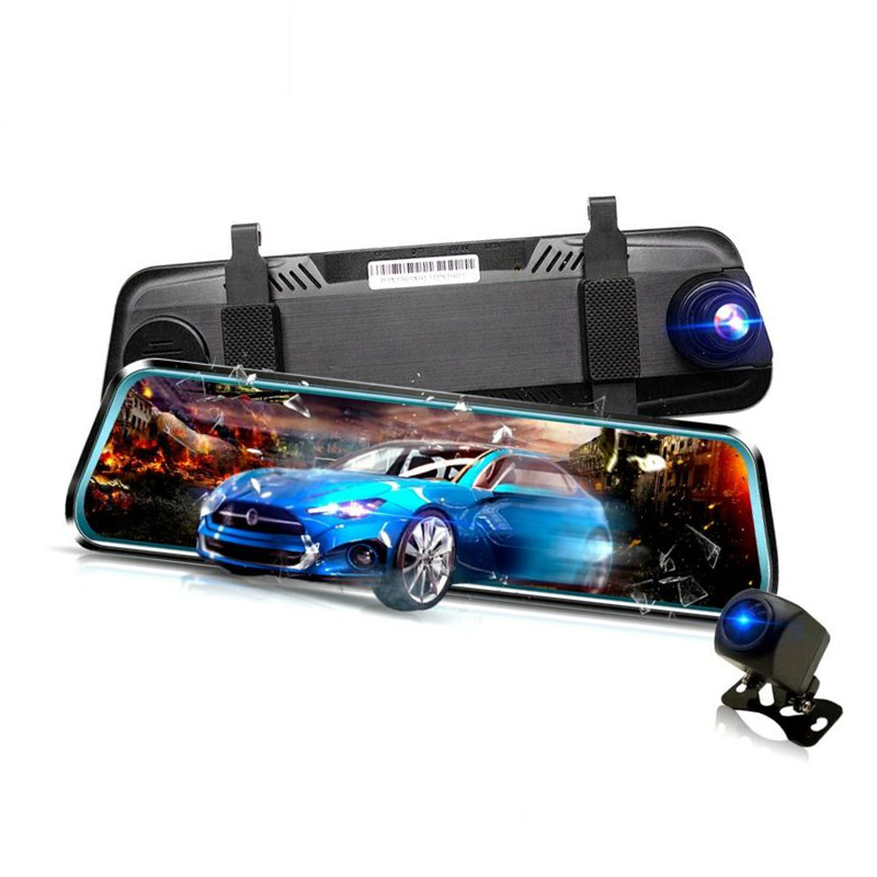 IPS Screen <font><b>Car</b></font> <font><b>Dvr</b></font> <font><b>Mirror</b></font> Dash Camera Dash Cam Dual Lens <font><b>Car</b></font> Camera Full Hd Drive Recorder Stream RearView <font><b>Mirror</b></font> image