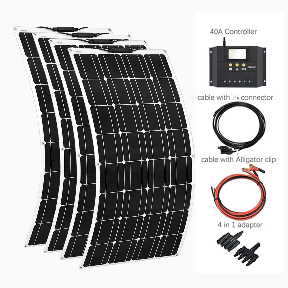 4*100W paneles solares flexibles 100 vatios módulo Solar cargador para RV/barco 400W Panel de alimentación Solar sistema controlador 100% nuevo y original, garantía de 90 días SKM150GB128D