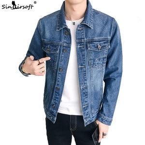 Image 1 - Yeni erkek ceket Retro Denim ince moda Denim ceket Denim ceket rahat sokak giyim erkek büyük boy 915 #