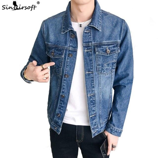 Yeni erkek ceket Retro Denim ince moda Denim ceket Denim ceket rahat sokak giyim erkek büyük boy 915 #