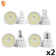 2pcs/lot LED Spot Lamp Bulb 220V 110V E27 GU10 MR16 Spotlight SMD2835 48 60 80 LEDs Spot Light For Kitchen Home Decor Lighting