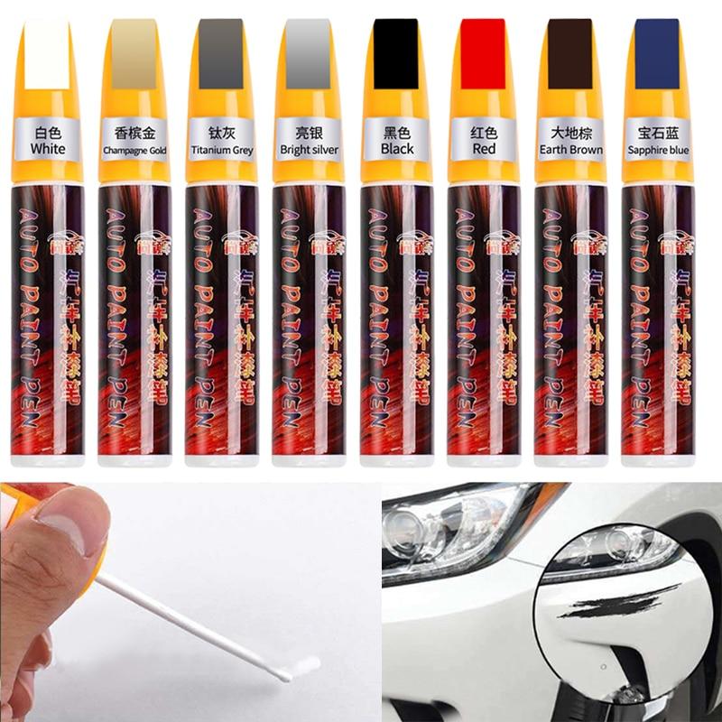 11 Цвета автомобиля заполнить Красящие ручки инструмента Водонепроницаемый подправить восстановление покраски автомобиля картина пальто ...
