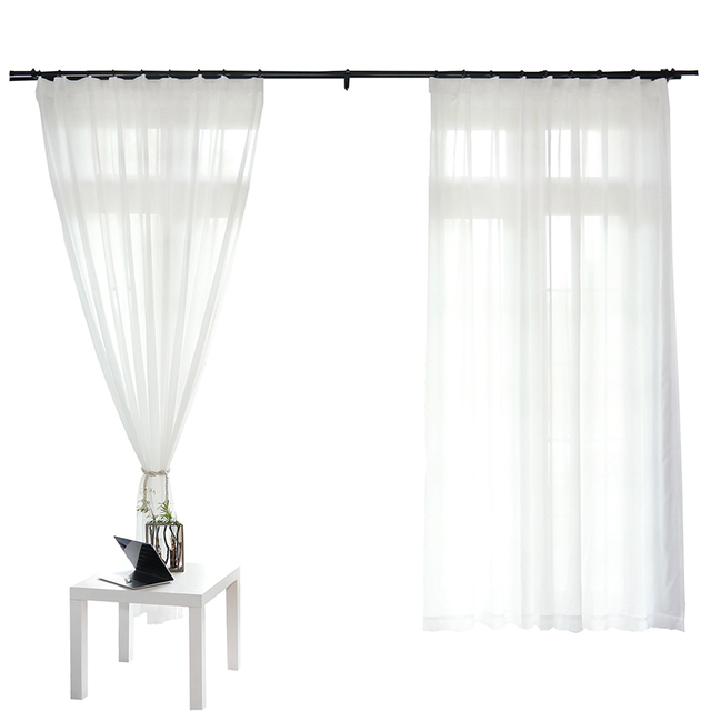 White Curtains for Living Room 6