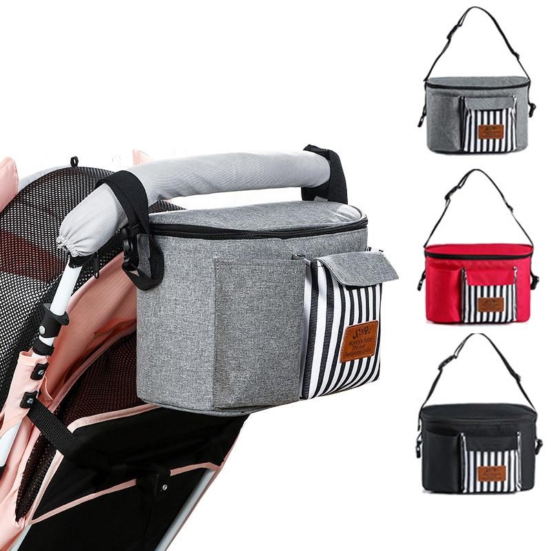 Baby Stroller Bag Waterproof Diaper Bag Mom Travel Hanging Nappy Bags Carriage Buggy Cart Bottle Backpack