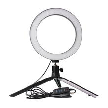 AAAE Top-Dimmable Led Lighting Photographic Studio Selfie Ring Light 3200K-5500K with Camera Photo with Usb Cable and Mini Tripo