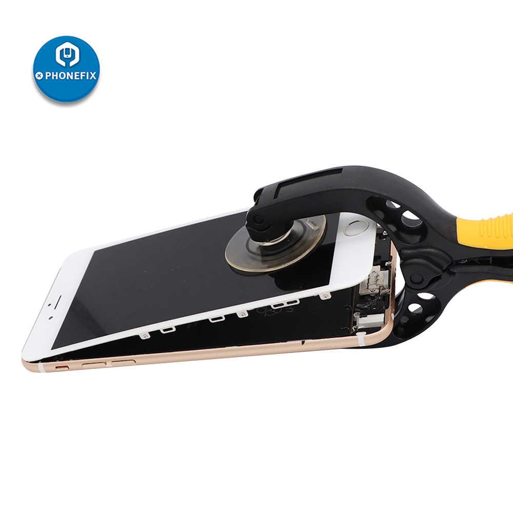 Outils d'ouverture d'écran d'affichage à cristaux liquides de téléphone portable de ventouse de PHONEFIX ouvreur d'affichage à cristaux liquides pour l'outil de réparation d'iphone de Samsung avec des cadeaux