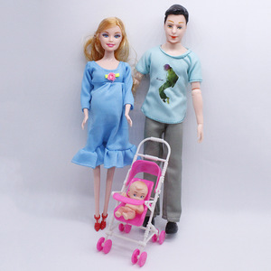Toys Kids 3 People Dolls Suits