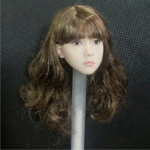 Новинка 1/6 года; Цвет коричневый; Кудрявые волосы для девочек; Модель головы для маленьких девочек; В наличии